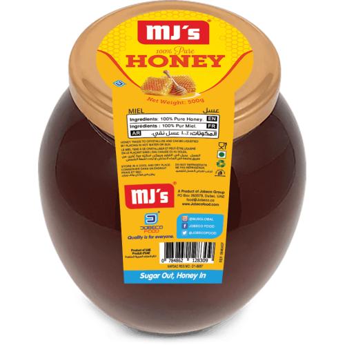 Honey glass jar 500gr