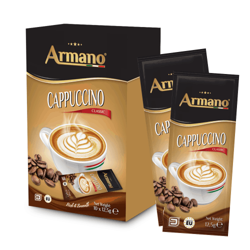 Instant Cappuccino classic in 12.5g pouches