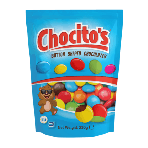 Sugar Coated Milk Chocolate Buttons 240g