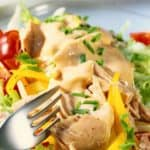 Salad with MJ's Thousand Island Dressing
