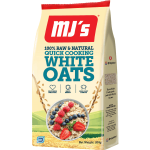 Raw & Natural Quick Cooking White Oats